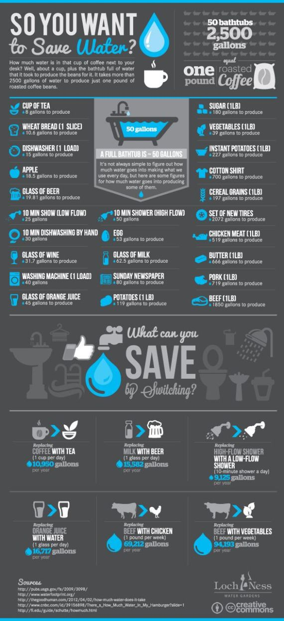 so you want to save water